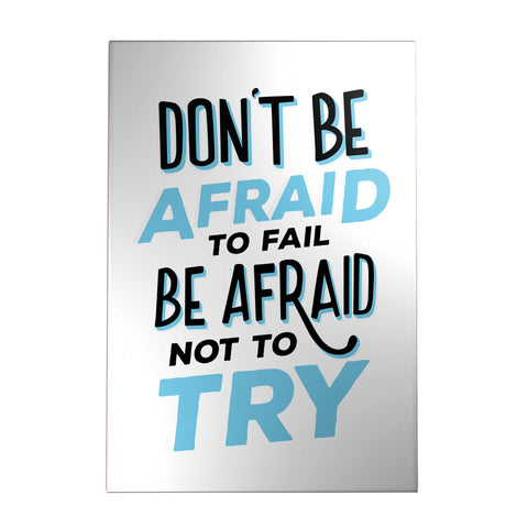 Don't Be Afraid to Fail Decoposter