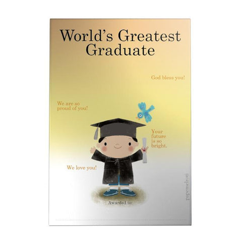 World's Greatest Graduate Decoposter: Boy