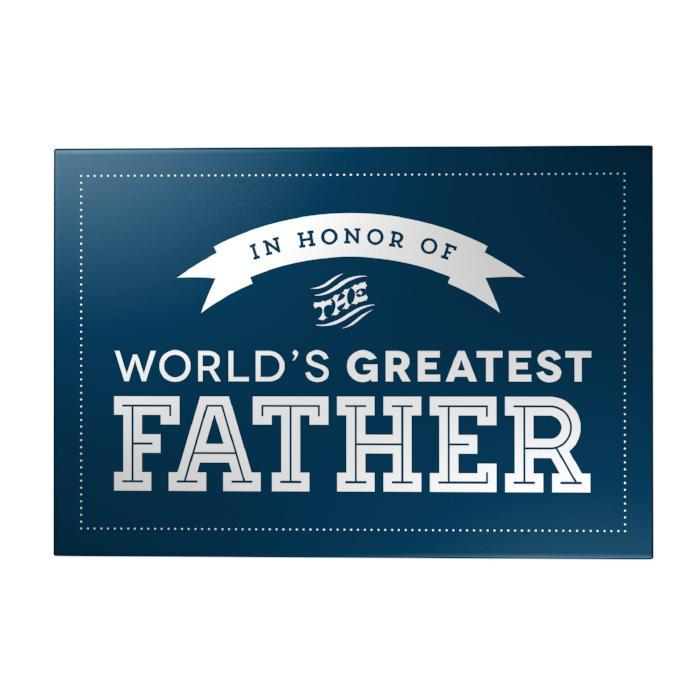 World's Greatest Father Decoposter: Honor