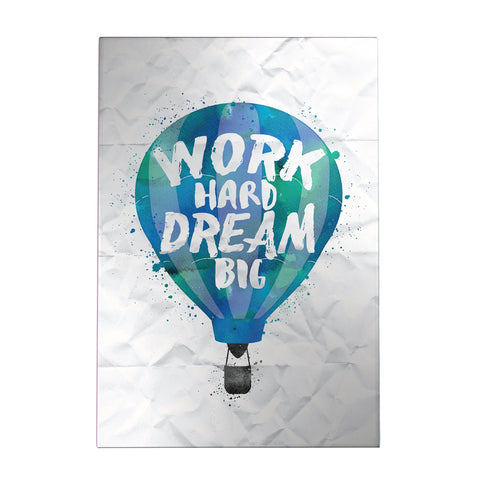 Work Hard Dream Big Decoposter