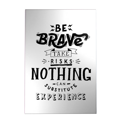 Be Brave Take Risks Decoposter