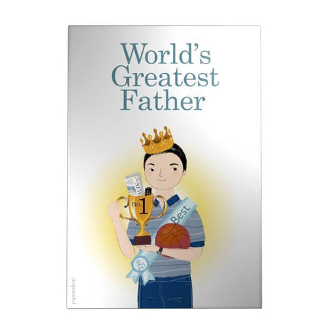 World's Greatest Father Decoposter: Trophy