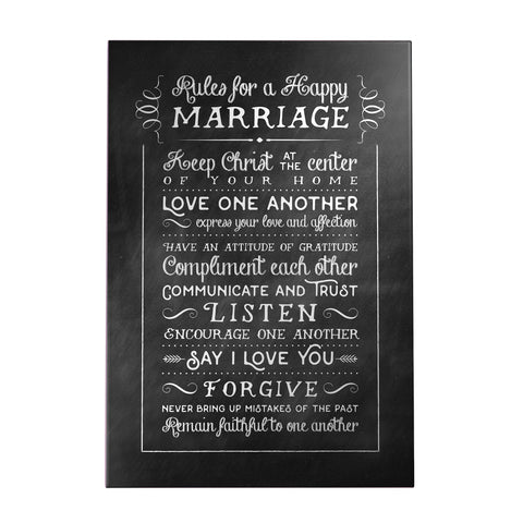 Rules for a Happy Marriage Decoposter