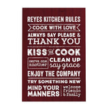 Kitchen Rules Personalized Decoposter
