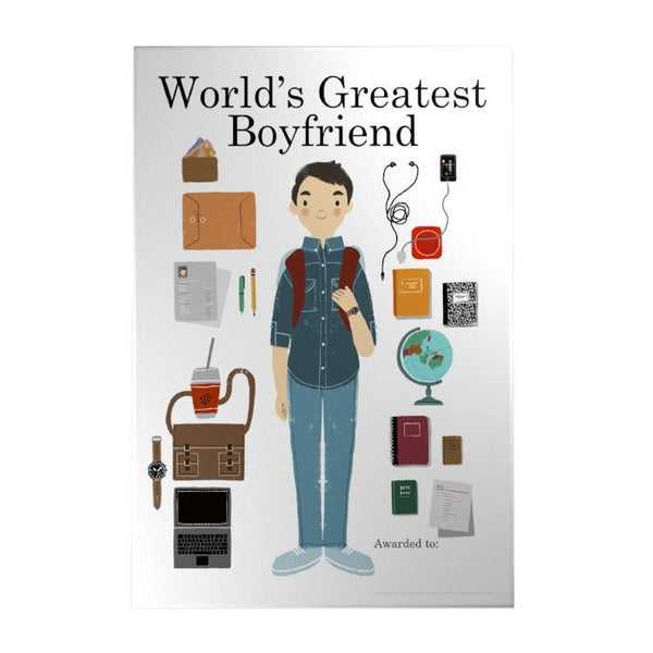 World's Greatest Boyfriend Decoposter