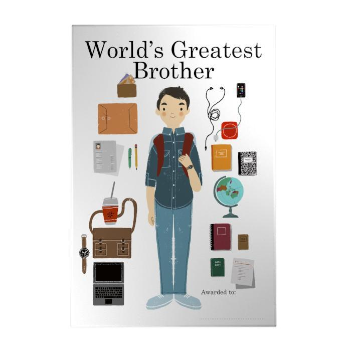 World's Greatest Brother Decoposter
