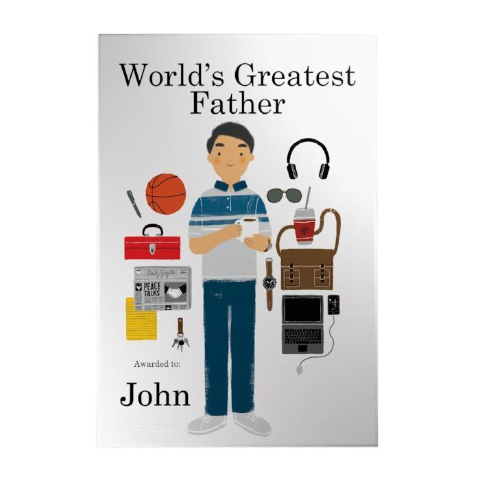 World's Greatest Father Decoposter