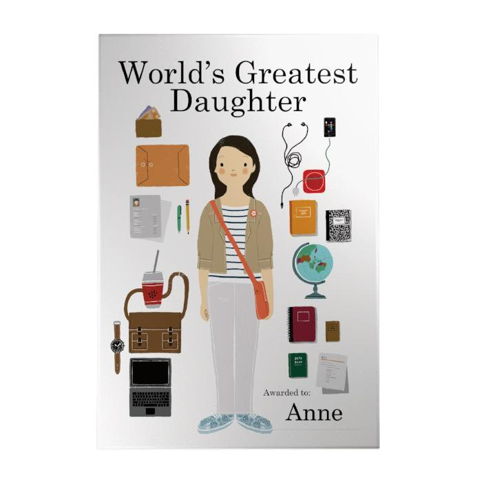 World's Greatest Daughter Decoposter