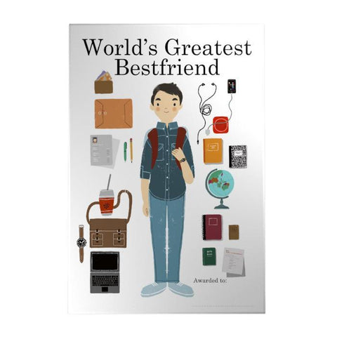 World's Greatest Bestfriend Decoposter: Male