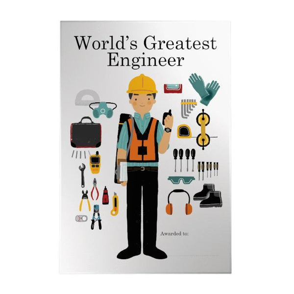 World's Greatest  Engineer Decoposter: Male