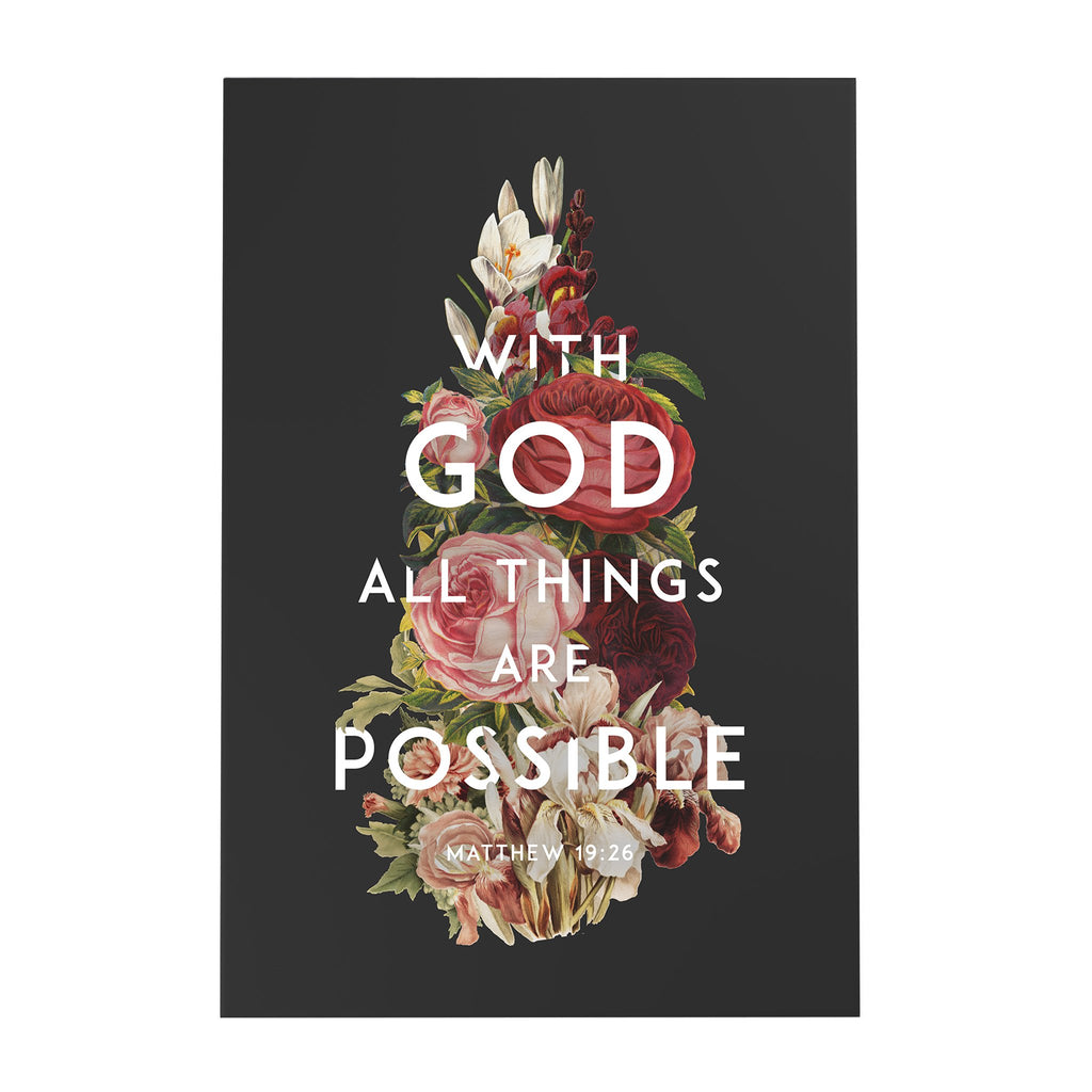 With God All Things Are Possible Decoposter