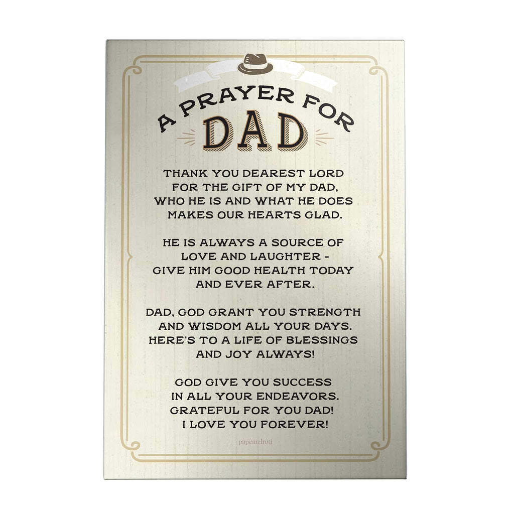 A Prayer for Dad Decoposter