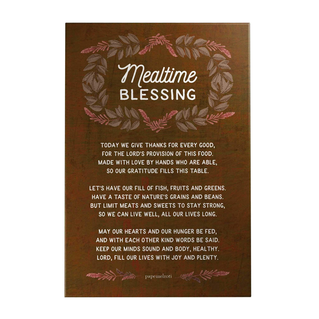 Mealtime Blessing Decoposter