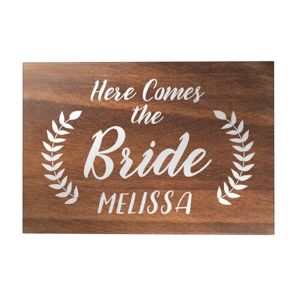 Here Comes the Bride Personalized Decoposter