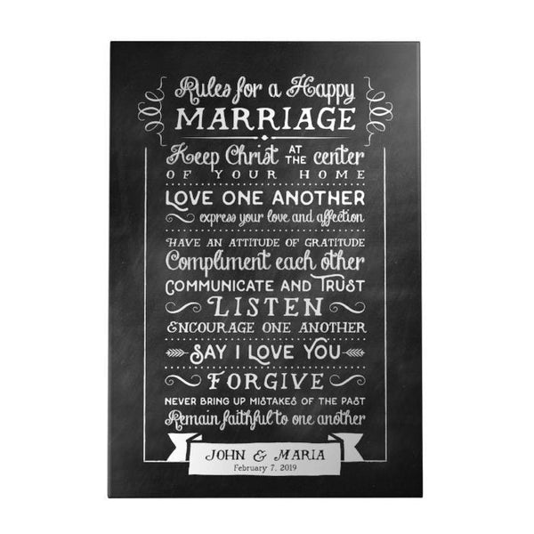 Rules for a Happy Marriage Personalized Decoposter