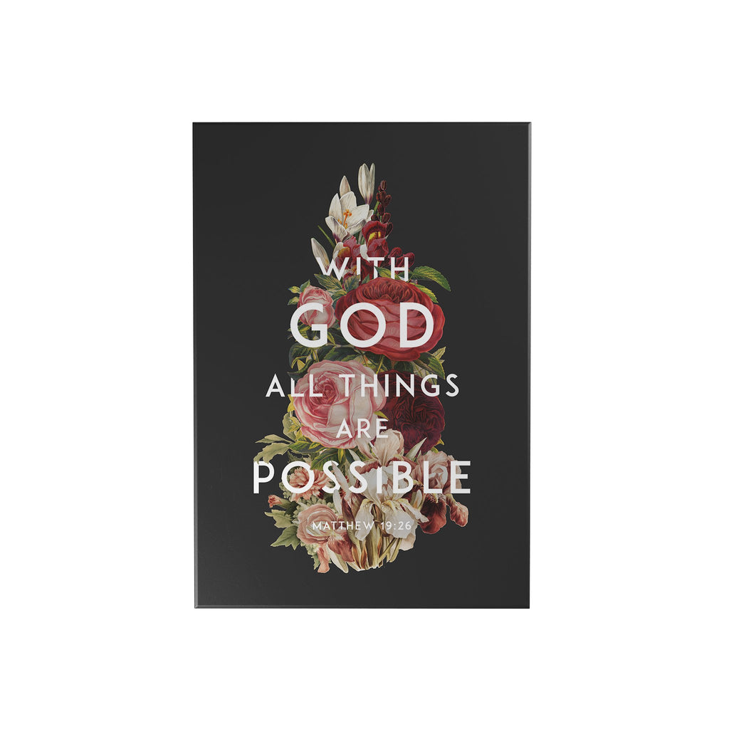 God's Garden: With God All Things Are Possible Decoposter