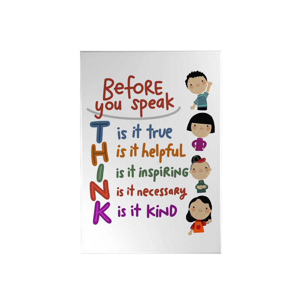 Before You Speak Think Decoposter