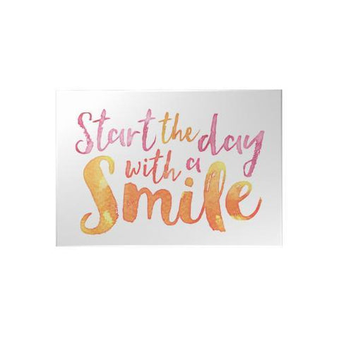 Start the Day with a Smile Decoposter