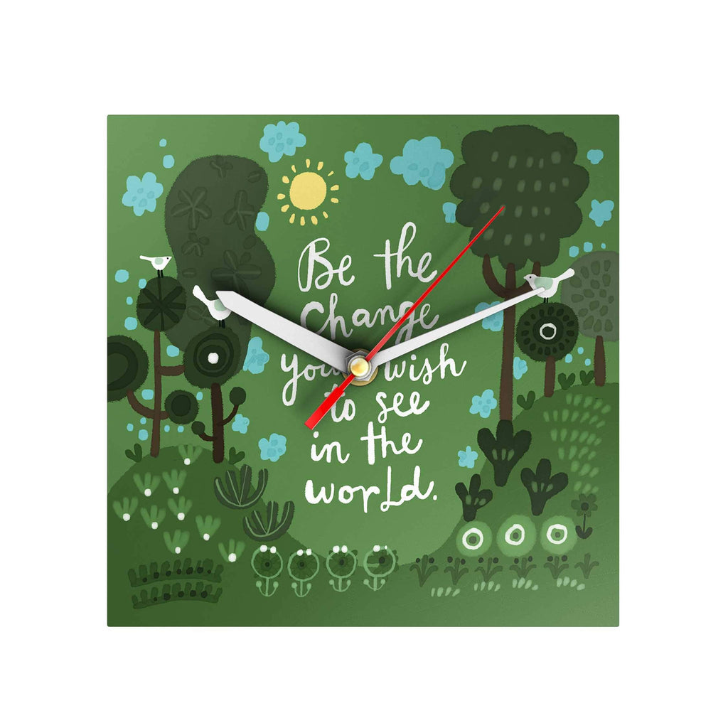 Affirmation Clock: Be the Change