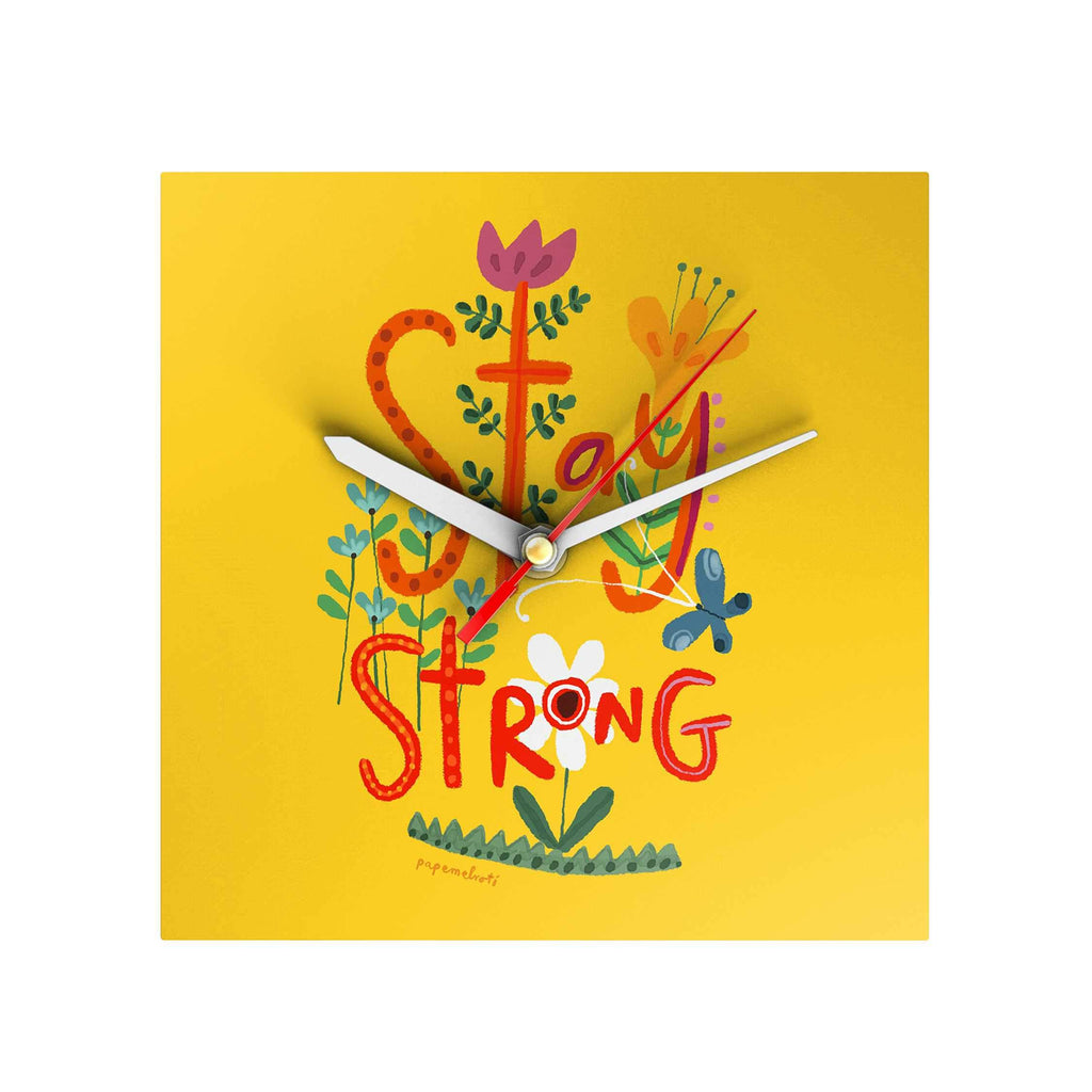 Affirmation Clock: Stay Strong