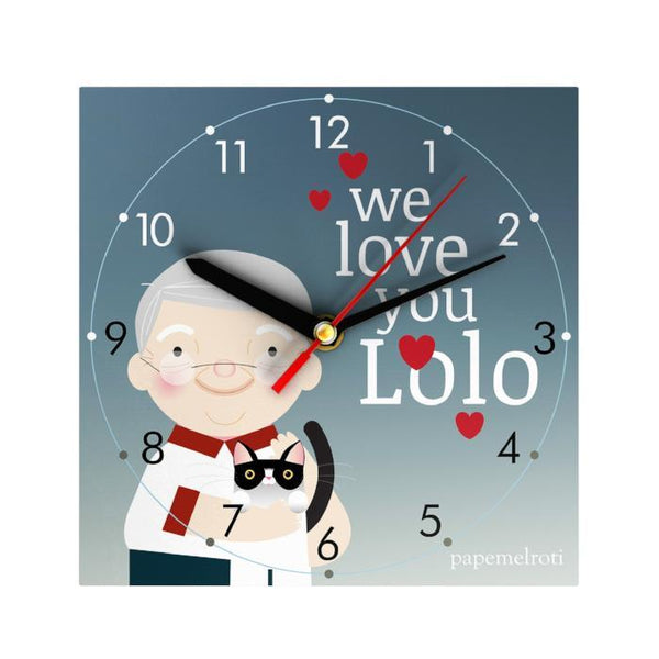 We Love You Lolo Clock