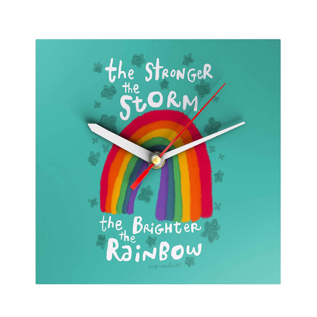 Affirmation Clock: The Stronger the Storm