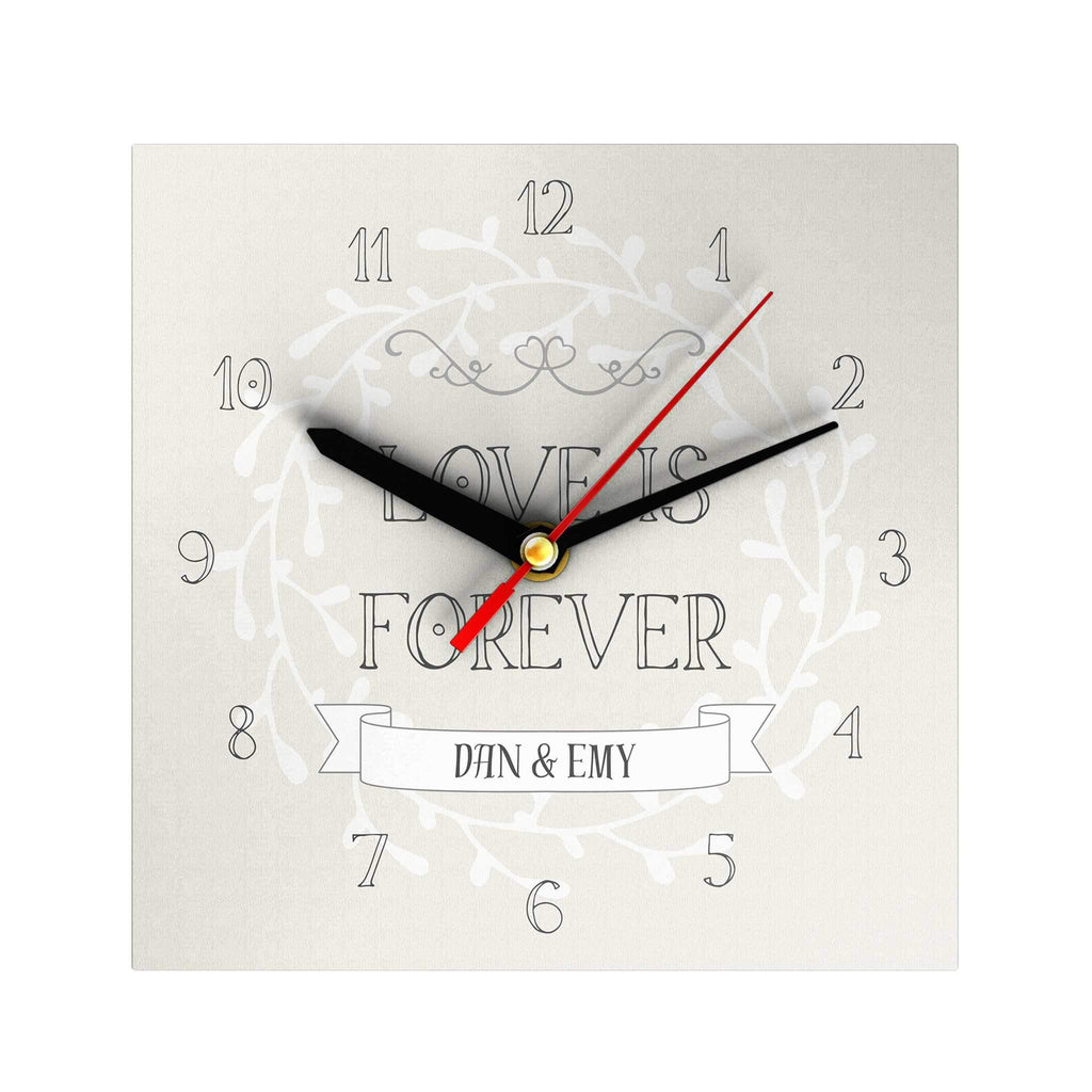 Love Is Forever Personalized Clock