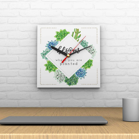 Bloom and Grow: Bloom Where You Are Planted Clock