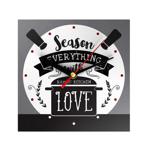 Season Evertything with Love Personalized Clock