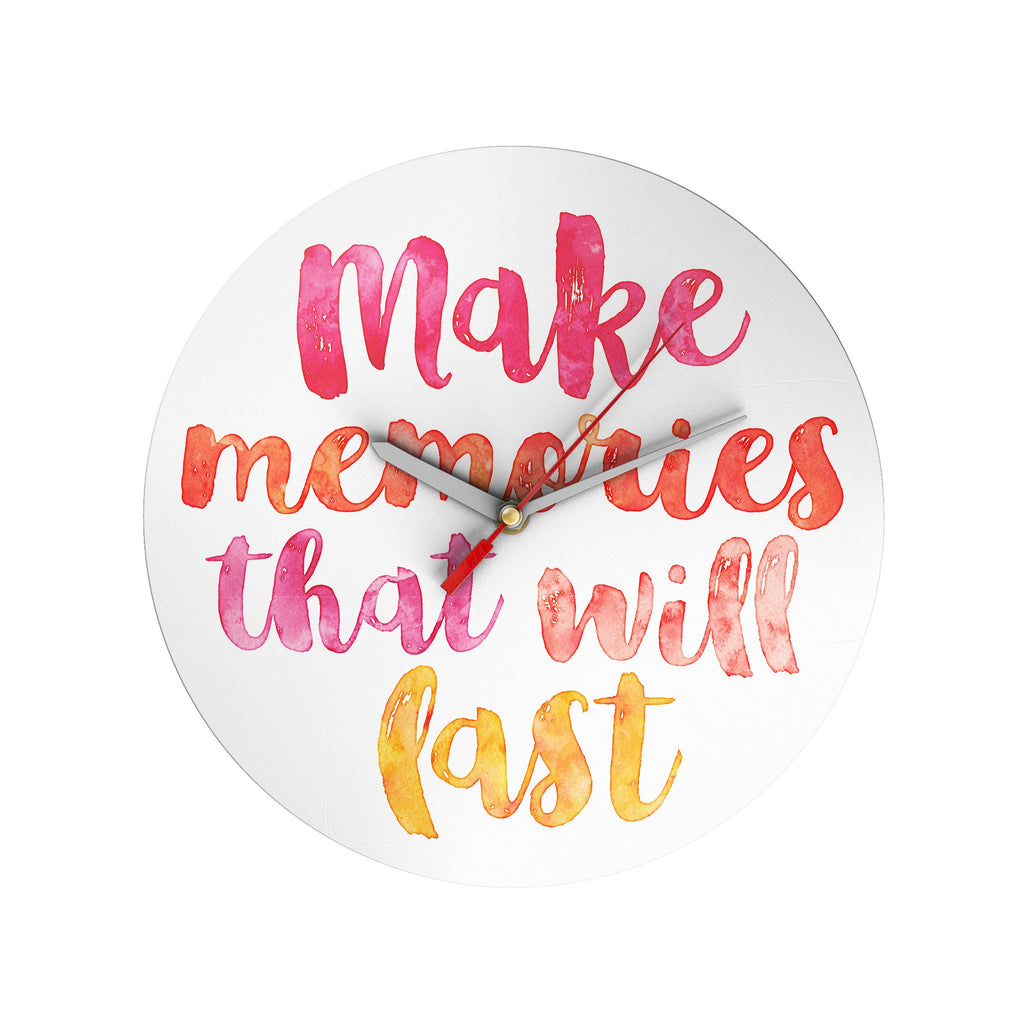 Make Memories Clock