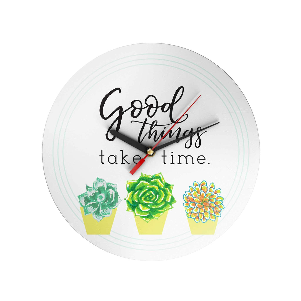 Bloom and Grow: Good Things Take Time Clock