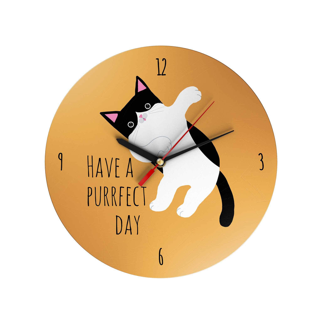 Pawsome: Have a Purffect Day Clock