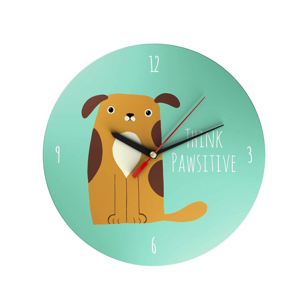 Pawsome: Think Pawsitive Clock