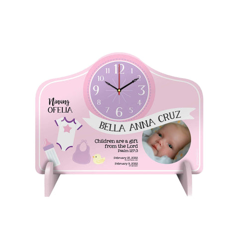 Baby Personalized Desk Clock
