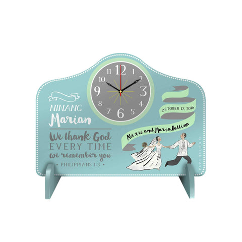 Wedding Dance Personalized Desk Clock