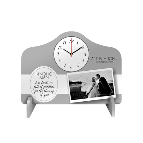 Elegant Personalized Desk Clock