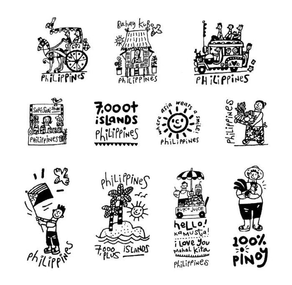 Filipiniana Rubber Stamp Set
