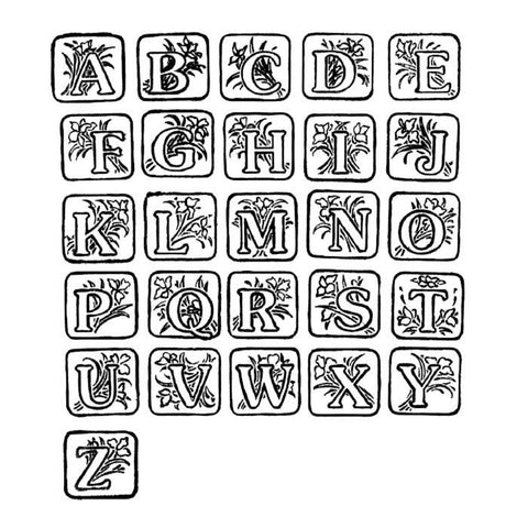 Art Deco Alphabet Rubber Stamp Set