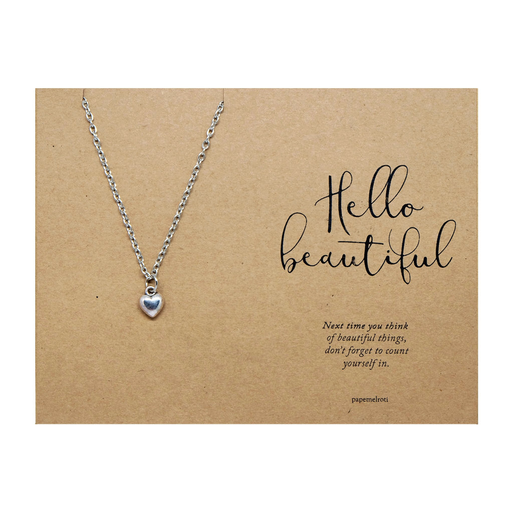 Dainty Heart Necklace Jewelry Gift Card