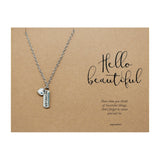 Heart and Forever Tag Necklace Jewelry Gift Card