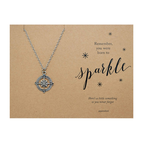 Compass Necklace Jewelry Gift Card