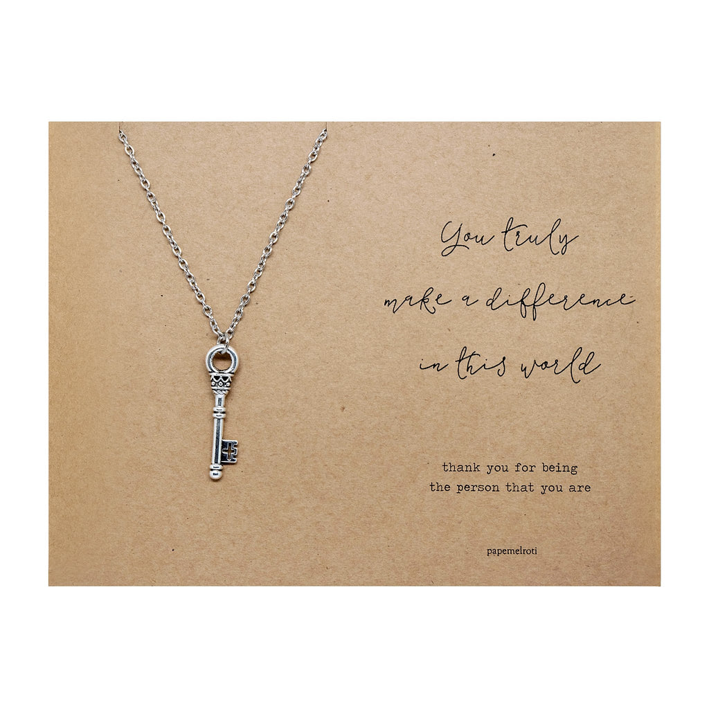 Key Necklace Jewelry Gift Card