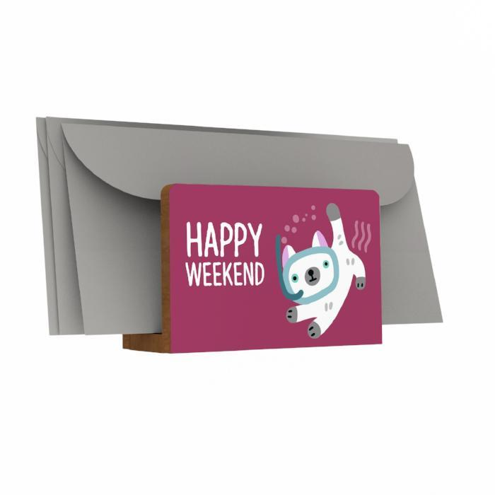 Happy Weekend Letter Holder