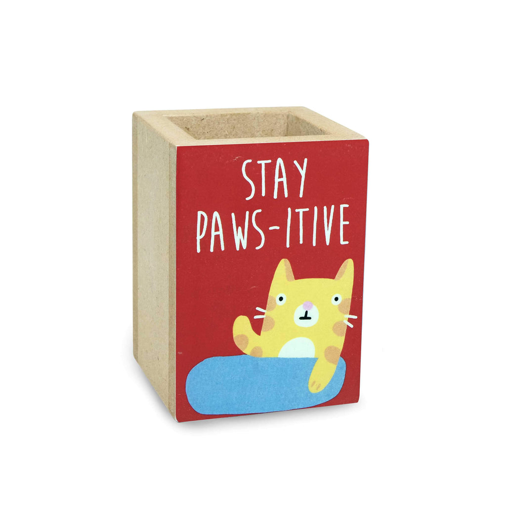 Stay Paws-itive Penholder