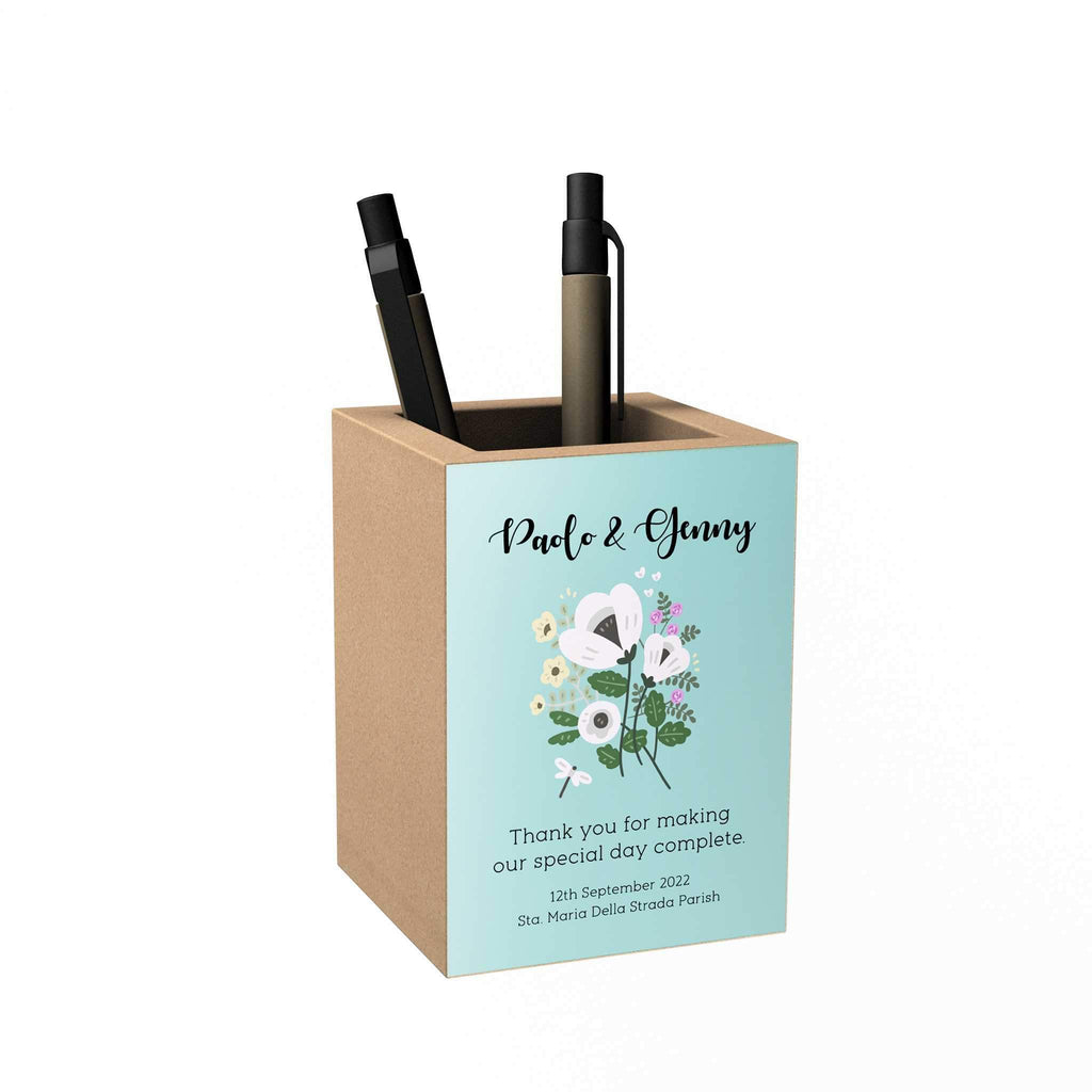 Floral Personalized Penholder: Thank You for Making Our Special Day Complete