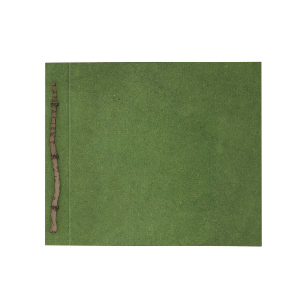 Army Green Abaca Twig Scrapbook
