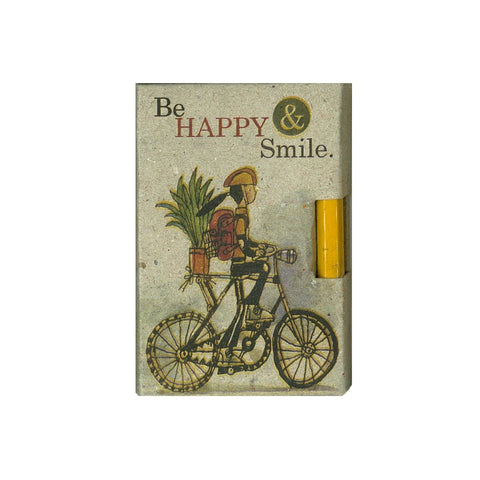 Be Happy and Smile Pencil Pad