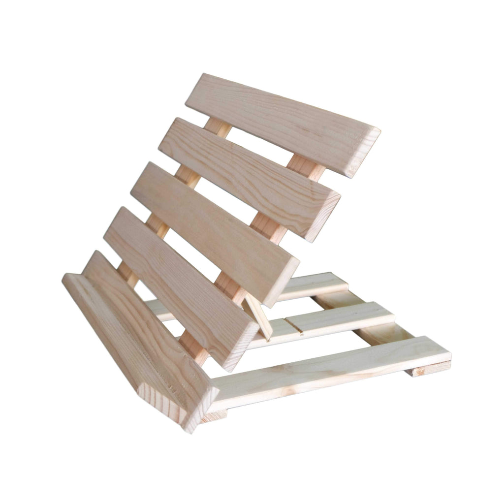 Heavy Duty Book Stand: Natural Wood