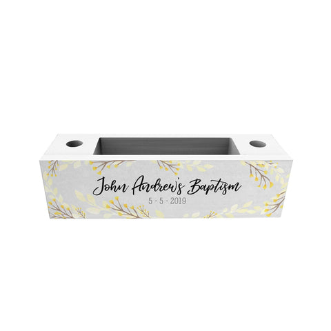 Autum Flower Personalized Penholder