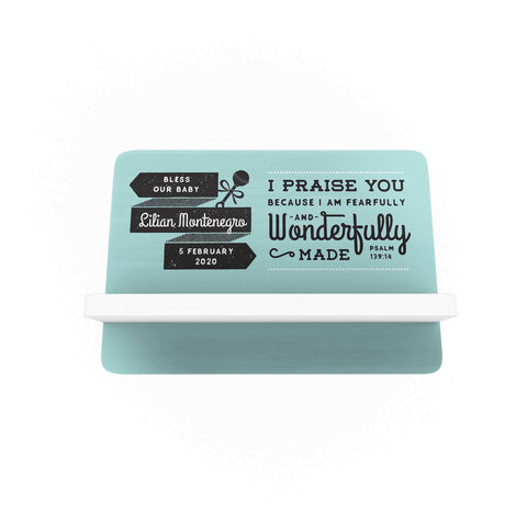Words Personalized Cellphone Holder: Blue Green